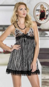 GC23761 - New Night Dantelli Babydoll Takım