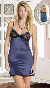 GC23816 - New Night Dantelli Saten Babydoll Takım