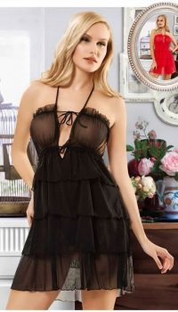 GC9916 - New Night Şifon Babydoll Takım